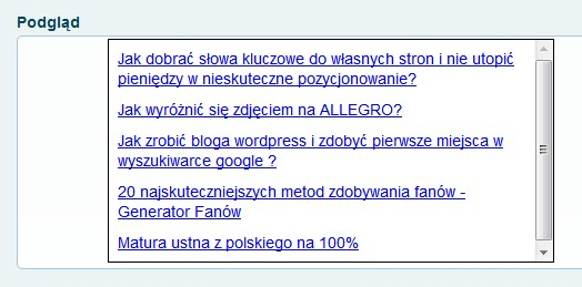 widget prezentujący bestsellery